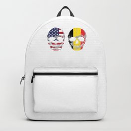 Patriot German Nationalism Country Nationals Patriotic Germany USA Flag Skull Gift My Home My Blood Backpack