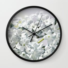 Spring white 026 Wall Clock