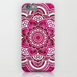 Mandala Hot Pink Colorburst iPhone Case