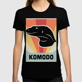 KOMODO Dragon - Vintage 70s Style Poster T-shirt