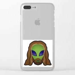 Alien 3:16 Clear iPhone Case