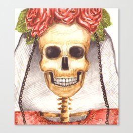Watercolor Catrina Canvas Print