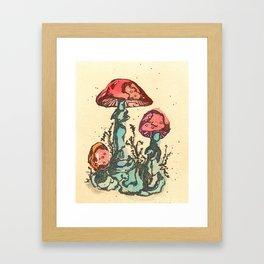 Mushrooms 3 Framed Art Print