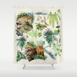 Fungi & Ferns Ivory Shower Curtain