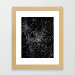 raleigh map north carolina Framed Art Print
