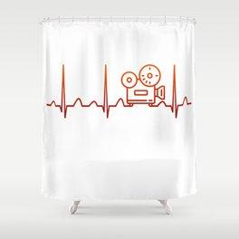 Filmmaking Heartbeat Shower Curtain