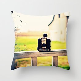 Brownie Kodak Camera Throw Pillow