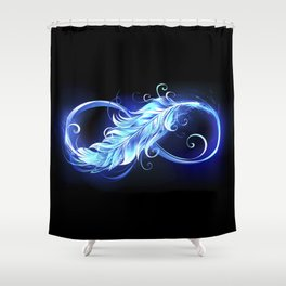 Fiery Symbol of Infinity with Feather Shower Curtain