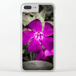 Purple Periwinkle Clear iPhone Case
