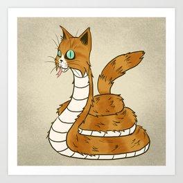 Cat Snake Art Print