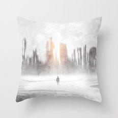 Grey hope Throw Pillow