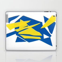 Abstract blue one Laptop & iPad Skin