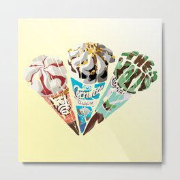 The Cornetto Trilogy Metal Print
