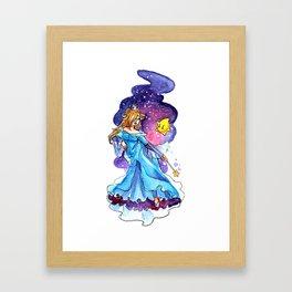 Cosmic Blue Framed Art Print