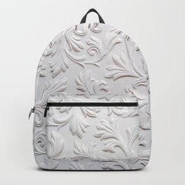 Vintage floral plaster illustration pattern. Victorian style. Baroque background. Backpack