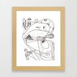 My Love, the Space Whale Framed Art Print
