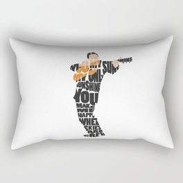 Typography Art of  The Man in Black Johnny Cash Rectangular Pillow