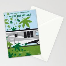 No763 My We are the Millers minimal movie poster Stationery Cards