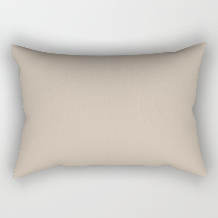 Sherwin Williams Trending Colors of 2019 Dhurrie Beige SW 7524 Solid Color Rectangular Pillow