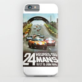 1966 Le Mans poster, Race poster, car poster, garage poster iPhone Case