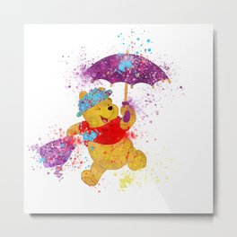 Winnie The Poppins Metal Print