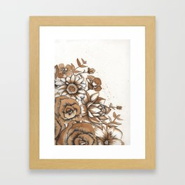 Coffee Art- Flowers Framed Art Print