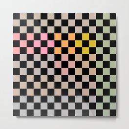 Pastel Colors Checkerboard Metal Print