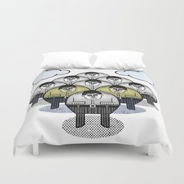 TWO GATHER WITH CLOUDS Duvet Cover