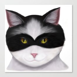 They call me the Masked Cat Canvas Print