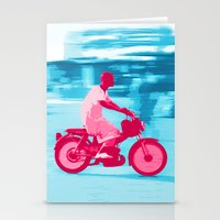 motorbike Stationery Cards featuring Motorbike Guy by Sergio Silva Santos