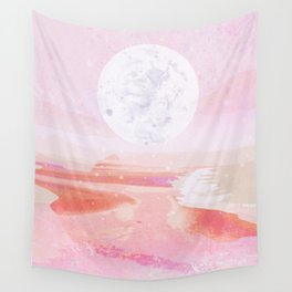 pink moonrise Wall Tapestry