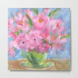 Teacup Pinks Metal Print