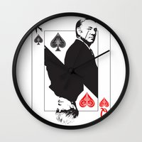 house of cards Wall Clocks featuring House Of Cards by capperflapper