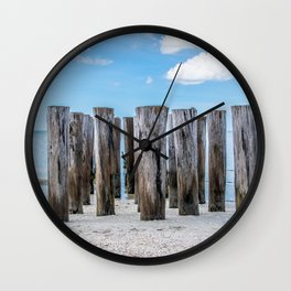 Pillar Beach Wall Clock