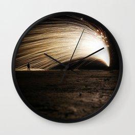 Silhouette Man - Light Trace Wall Clock