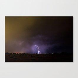 Idaho Lightning Show Canvas Print