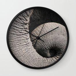 Curl Up Wall Clock