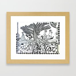 Willow Weep For Me Framed Art Print