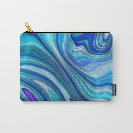 Elegant Paua Inspired Rainbow Abalone Shell Carry-All Pouch