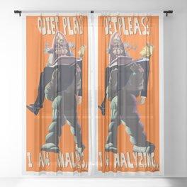 Quiet Please, I Am Analyzing - Forbidden Planet Robby the Robot - Donald Trump Mashup - Neckahneck Sheer Curtain