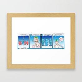 A Short PSA (Awkward IRL #7) Framed Art Print