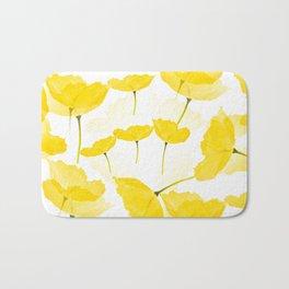 Light Yellow Poppies Spring Summer Mood #decor #society6 #buyart Bath Mat