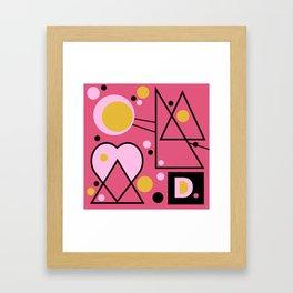 the girl in the forest Framed Art Print