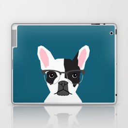 Hadley  - French Bulldog wearing hipster glasses perfect for dog lovers and owners, dog people Laptop & iPad Skin