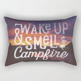 wake up & smell the campfire Rectangular Pillow