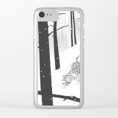 White tiger Clear iPhone Case