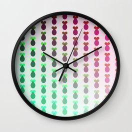 Red to green ombre rocket-shaped vegetables Wall Clock