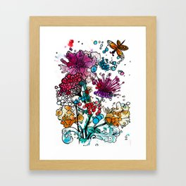 Floral watercolor abstraction Framed Art Print