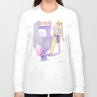 90s Long Sleeve T-shirts featuring 90s Sailormoon by Collectif PinUp!
