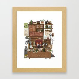 Professor Bat Framed Art Print